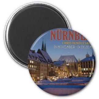 Nürnberg Christkindlesmarkt at Night Magnet