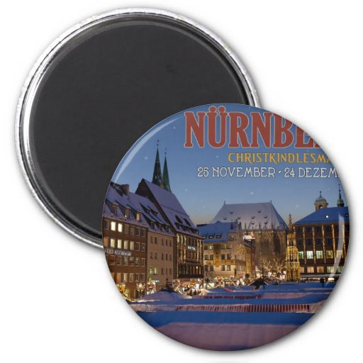 Nürnberg Christkindlesmarkt at Night Magnets