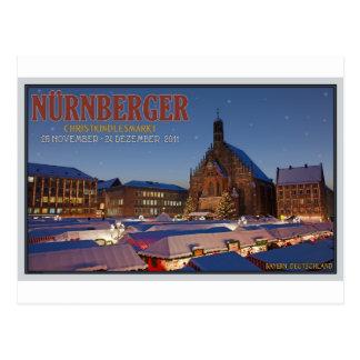 Nürnberg Christmas Market Night Postcard