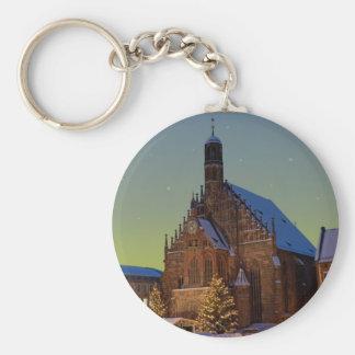 Nürnberg Frauenkirche y el Christkindlmarkt Llavero