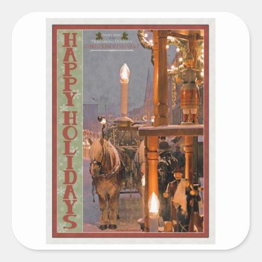Nurnberg - Snowy Night HH.jpg Square Sticker