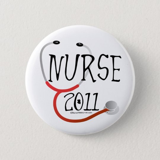 Nurse 2011 Graduation Pinback Button