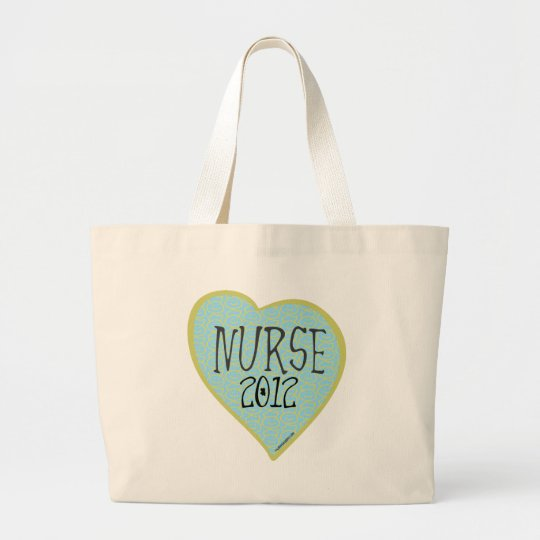 Nurse 2012 Heart Large Tote Bag