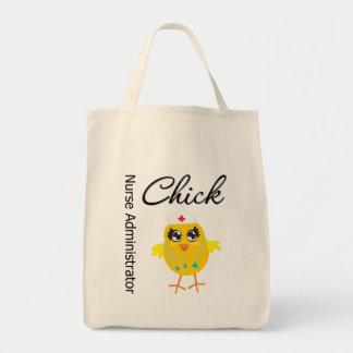 Nurse Administrator Chick v1 Tote Bags