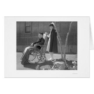 Nurse Aiko Hamaguchi & Tom Kano 1943 Card