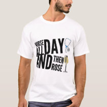 nurse all day and then rose cancer t-shirts