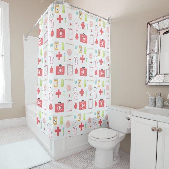 Nurse And Doctor Medical Theme Shower Curtain