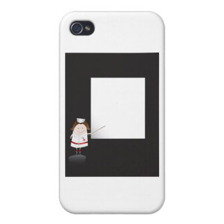 Nurse and whiteboard iPhone 4/4S cases