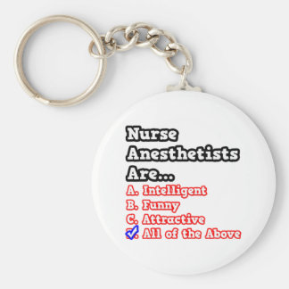 Nurse Anesthetist Quiz...Joke Keychain