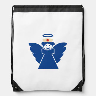Nurse Angel Drawstring Bag