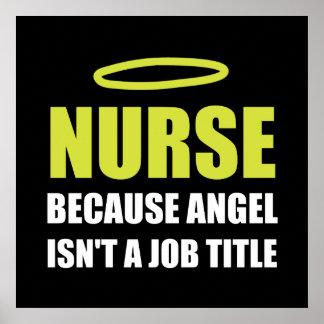 Nurse Angel Job Title Poster