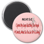 "Nurse ""Angel of Death""---Funny Gifts 2 Inch Round Magnet"