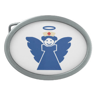 Nurse Angel Oval Belt Buckle