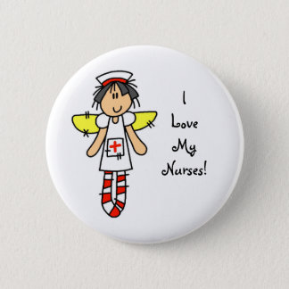 Nurse Angel Pinback Button