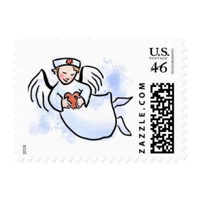 Nurse Angel Postage Stamps
