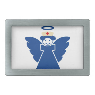 Nurse Angel Rectangular Belt Buckle