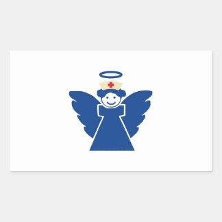 Nurse Angel Rectangular Sticker