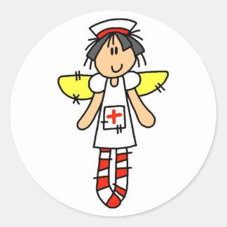 Nurse Angel Round Sticker