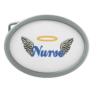 Nurse Angel Wings Belt Buckle