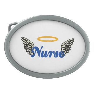 Nurse Angel Wings Belt Buckle