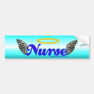 Nurse Angel Wings Bumper Sticker