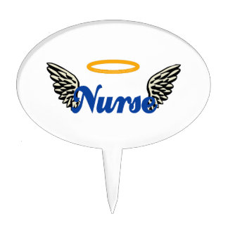 Nurse Angel Wings Cake Topper