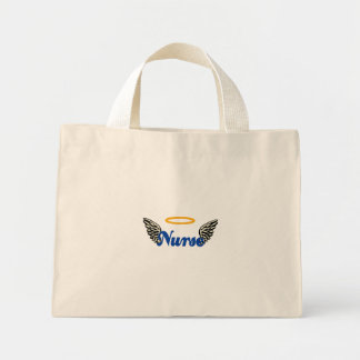 Nurse Angel Wings Mini Tote Bag