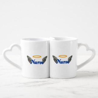 Nurse Angel Wings Couples' Coffee Mug Set