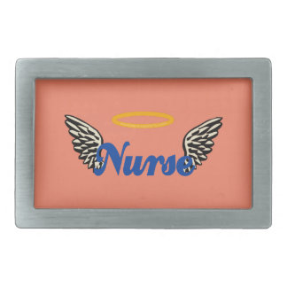 Nurse Angel Wings Rectangular Belt Buckle