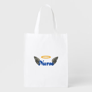 Nurse Angel Wings Reusable Grocery Bag