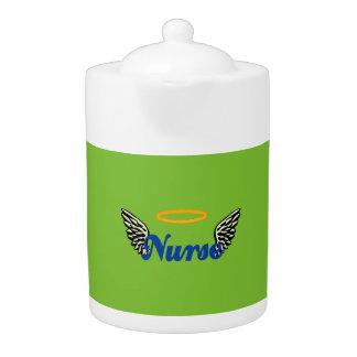 Nurse Angel Wings Teapot