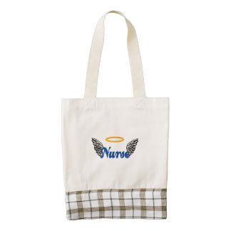 Nurse Angel Wings Zazzle HEART Tote Bag