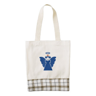 Nurse Angel Zazzle HEART Tote Bag