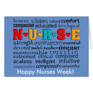 Nurse Appreciation Greeting Card Blue