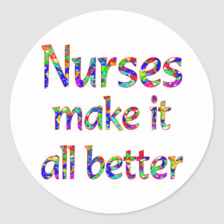 Nurse Appreciation Round Sticker