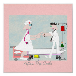 "Nurse Art ""After The Code"" Canvas Art Posters"