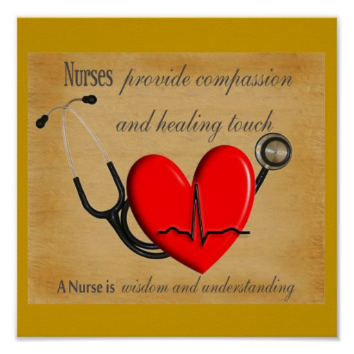 "NURSE Art Poster ""Compassion Healing Wisdom"""