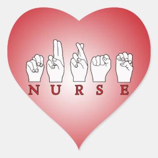 NURSE ASL FINGERSPELLED SIGN LANGUAGE STICKERS