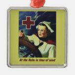 Nurse at the Helm Christmas Ornament