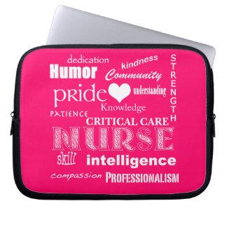 Nurse Attributes/Critical Care (Customizable) Computer Sleeve