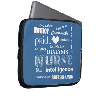 Nurse Attributes/Dialysis(Customizable) Laptop Sleeve