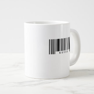 Nurse Barcode Large Coffee Mug