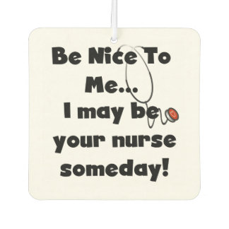 Nurse Be Nice to Me Air Freshner Air Freshener