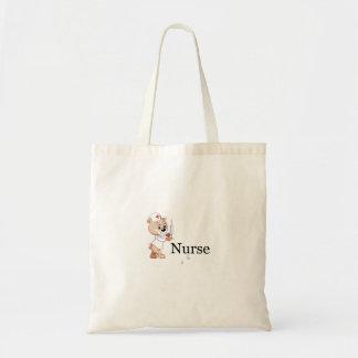 Nurse Bear Tote Bags