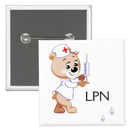 Nurse Bear Pinback Button