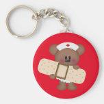 Nurse Bear cartoon fun keychain