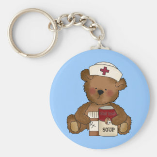 Nurse Bear Keychain
