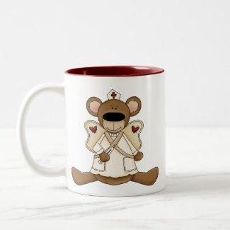 Nurse Bear Mug mug