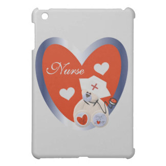 Nurse Bear With Heart and Gifts iPad Mini Covers