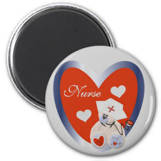 Nurse Bear With Heart T-shirts and Gifts Magnet